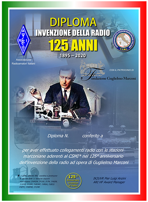 """125th ANNIVERSARY of the INVENTION of the RADIO AWARD"""